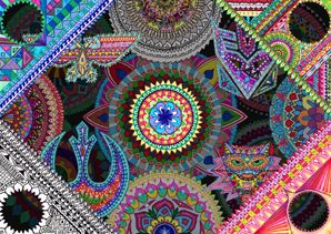 Many Layered Many Coloured Mandala Madness