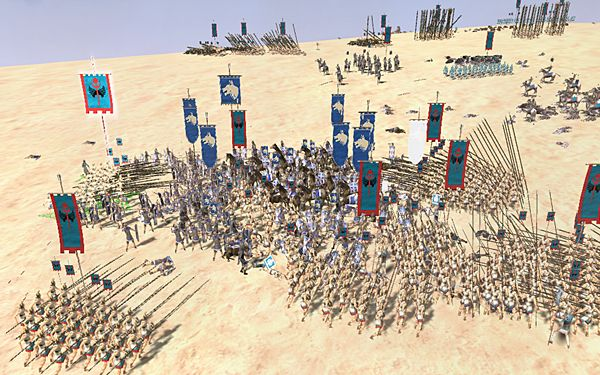 My first big battle against the Romans