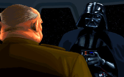 Darth Vader argues with Colonel Mustard