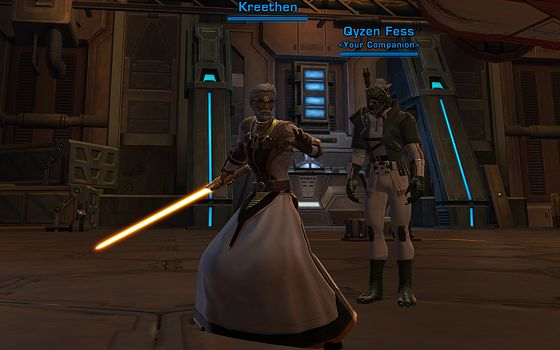 Qyzen crashes my obligatory new lightsaber shot