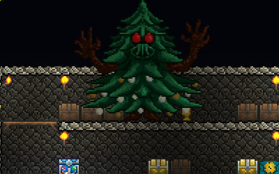 An evil Christmas tree infiltrates our base