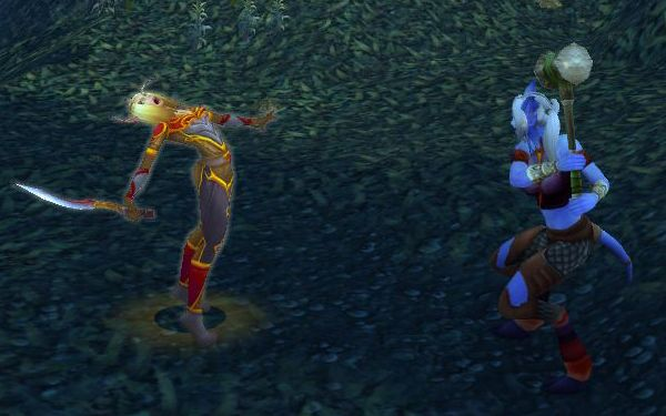 Blood Elf dies very dramatically