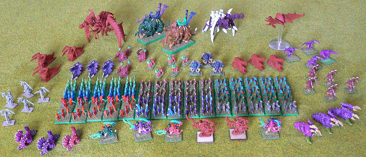 Epic Tyranids army<br />Photo taken December 2010