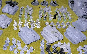 40K Imperial Guard army<br />Photo taken April 2011