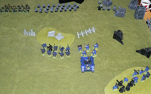 Marines and Orks square off against each other