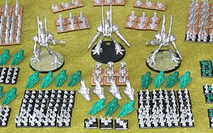 Epic Eldar army ready for paint
