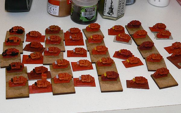 Painting the little red ladz re-commences