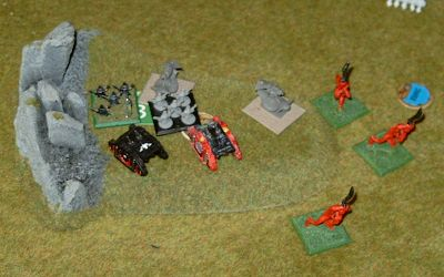 The Commissars lead a valiant charge at objective 3