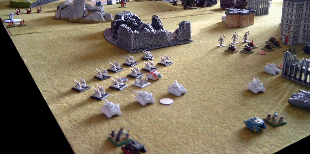 Turn 4: Tyranids approach the Imperial flank