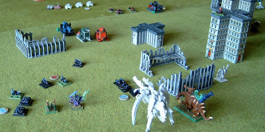 Turn 6: The Squats fight hard against the swarm