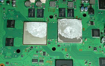 The old thermal paste barely even covers the CPU