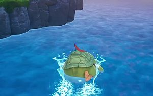 Wow, this gigantic bird-turtle-thing sure can swim<br /><span class='skye'>(video)</span>