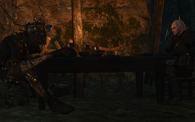 Geralt just having dinner with his wight buddy