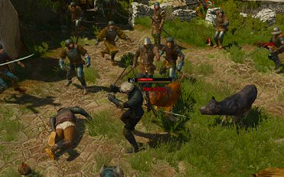 Fighting off a horde of bandits