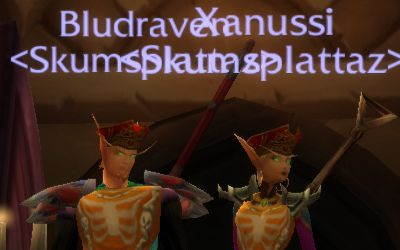 Bludraven and Xanussi go for matching headgear