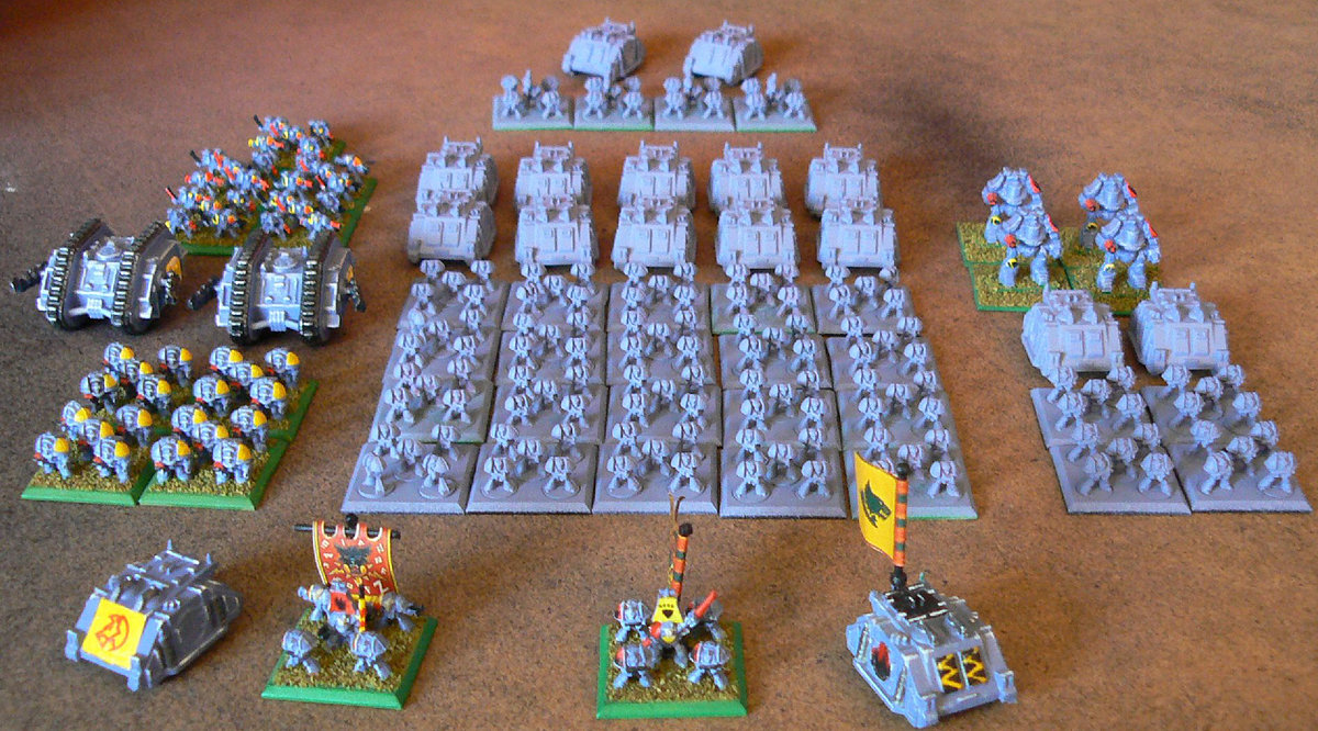 Epic Space Wolves army<br />Photo taken December 2010