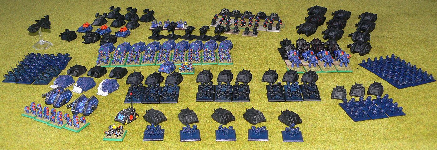 Epic Space Marines army<br />Photo taken March 2018