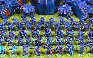 40K Space Marines army<br />Photo taken August 2018