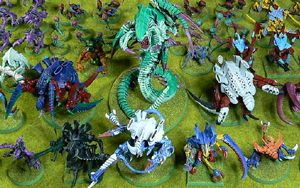 40K Tyranids army<br />Photo taken December 2019